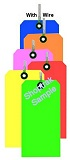 SH5002F Bright Fluorescent Tags (with wire)
