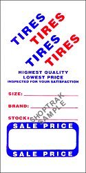 TL7800 Tire Advertising Labels