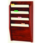 CH142 - Oak File Holder Rack (4 pocket)