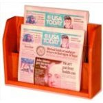 PT1 Oak Newspaper Rack (2 pocket)