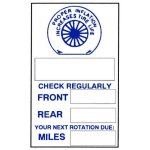 SCASP6 Custom Static Cling Tire Check Reminder