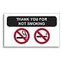 SCNOSMK Static Cling Stickers - No Smoking